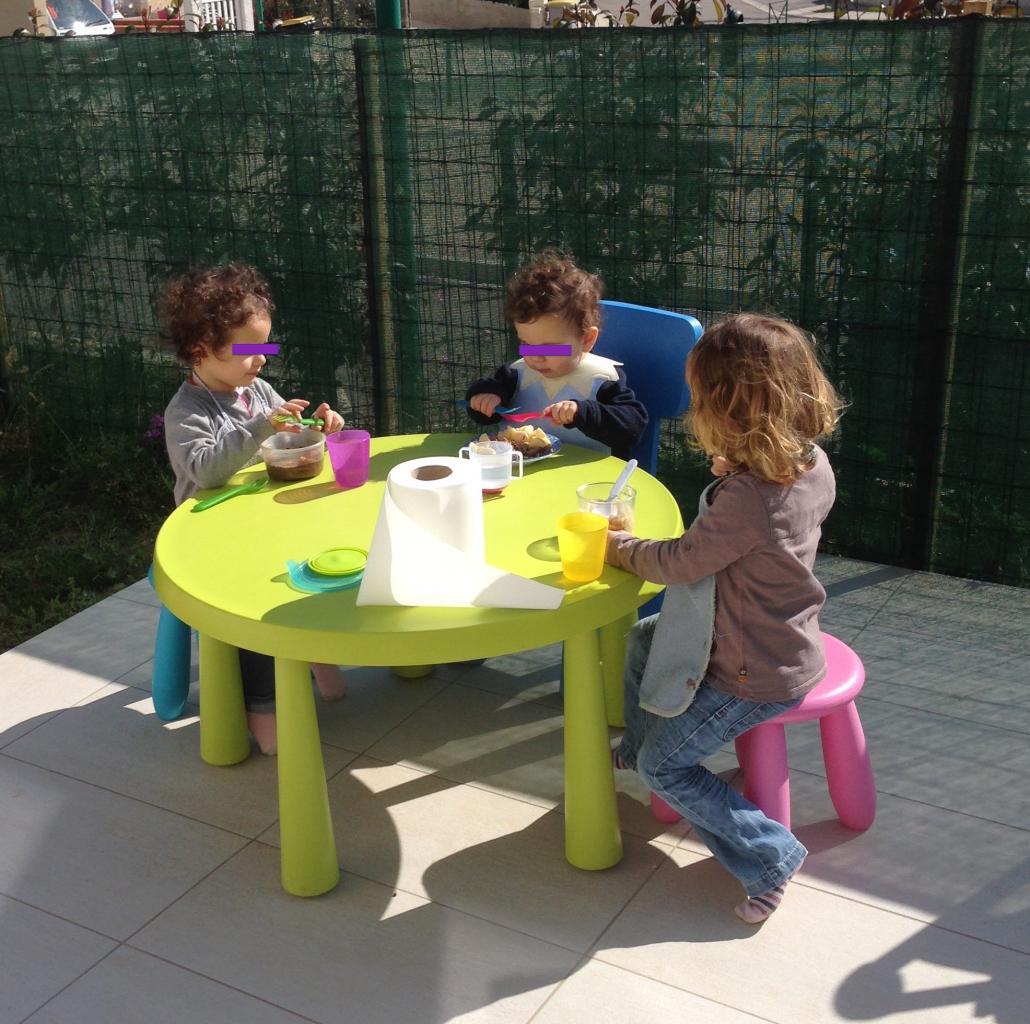 on profite de notre jardin au soleil