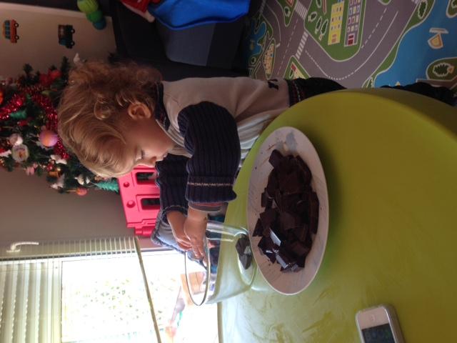 preparation des bonbons en chocolat