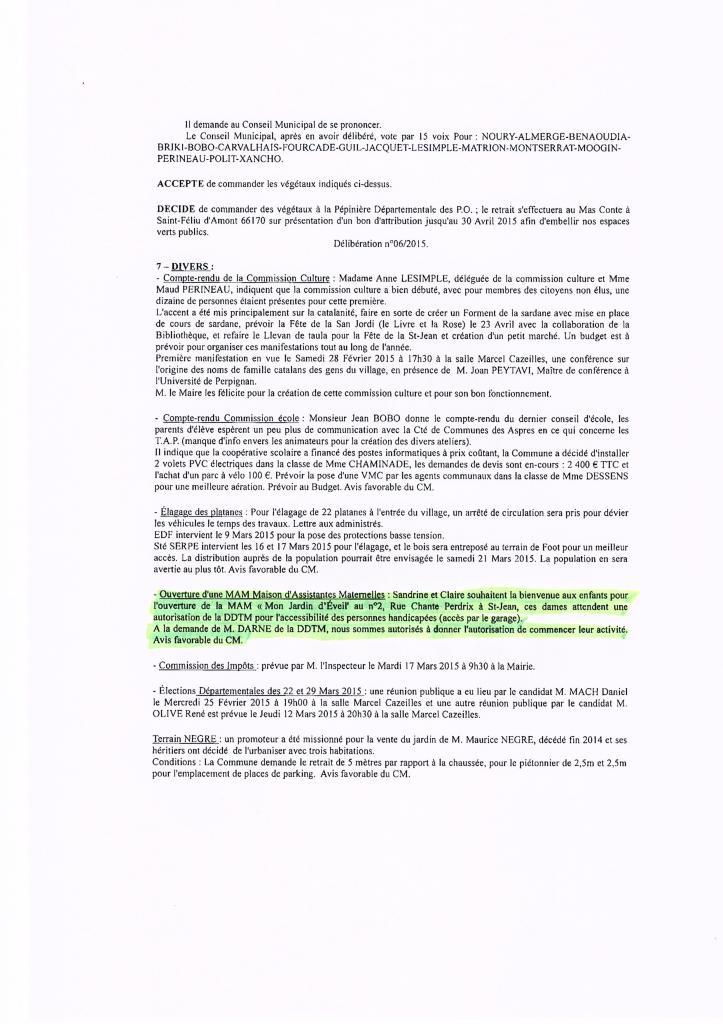autorisation d'ouverture de la DDTM , du conseil municipal et du maire